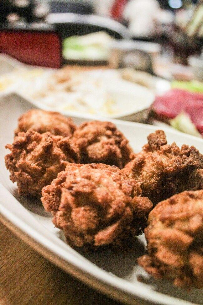 Deep fried meat balls