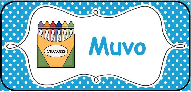 Structuur in de klas brengen: kaarten voor op het prikbord. --> muvo/muzische vorming © Sarah Verhoeven