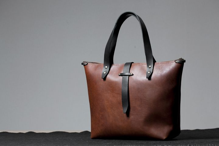 Bark and Mill hand crafted leather tote bag. #leather #handmade #craft #bag #fashion #accessories #totebag
