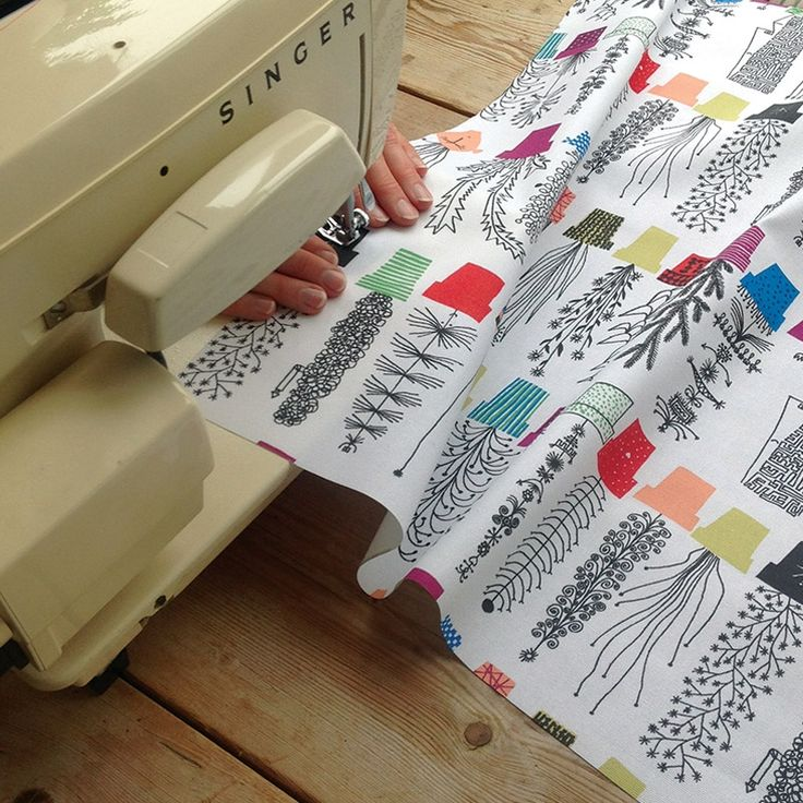 Create something for your kitchen with Crazy Pots cotton fabric, from New House Textiles. It looks fab made into a Roman blind. Designed by Olle Eksell. www.newhousetextiles.co.uk