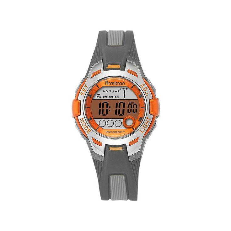 Armitron Women's Orange and Black Strap Digital Multifunction Sport Watch