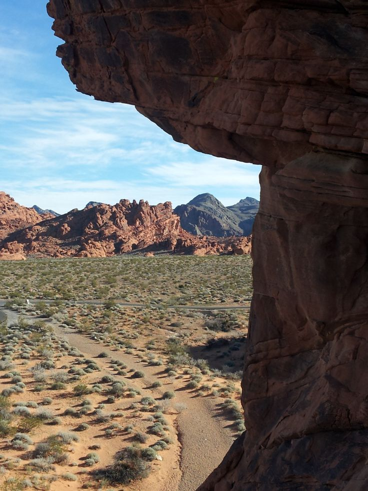 The Valley of Fire State Park in Overton is about an hour drive from Las Vegas
