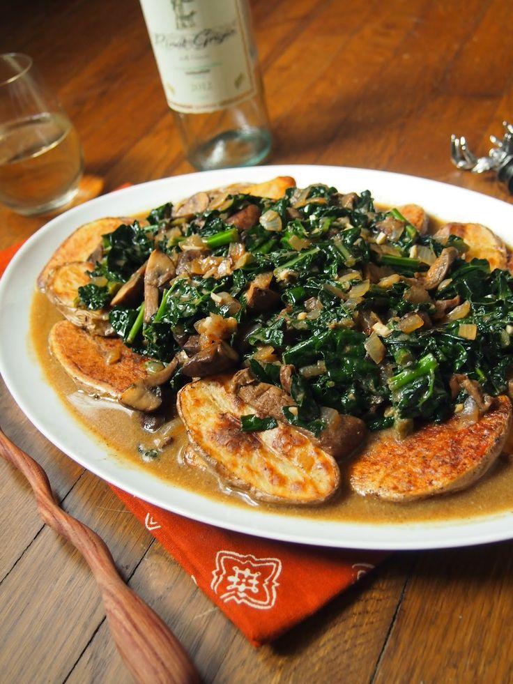 Kale & Mushroom Stroganoff & Plant-Based Protein (via An Avocado A Da...