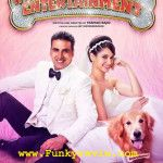 Akshay Kumar's upcoming movie 'Entertainment' and its brand new poster is released today. Akshay kumar is looking to woof of people in this film. Akshay kumar has worked in many successful film, He has worked in some comedy film and action film in...