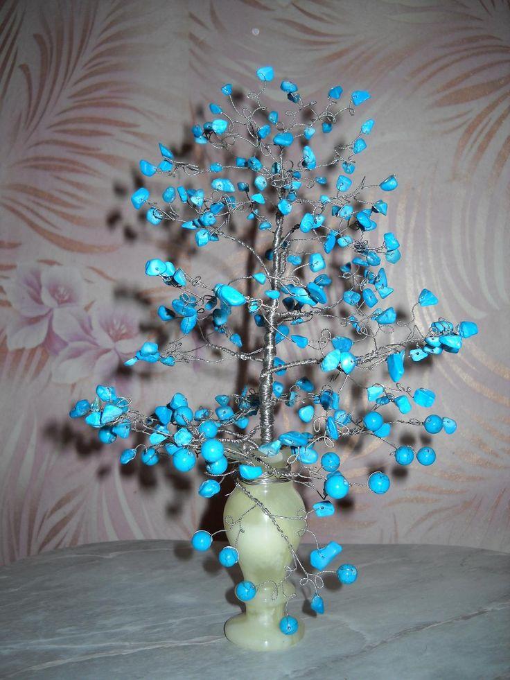 Дерево из бирюзы