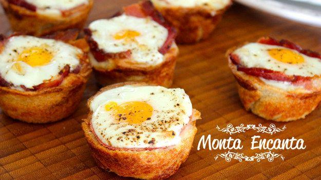 Cestinha de ovo. | 10 laricas rapidinhas e gostosas para comer vendo Netflix