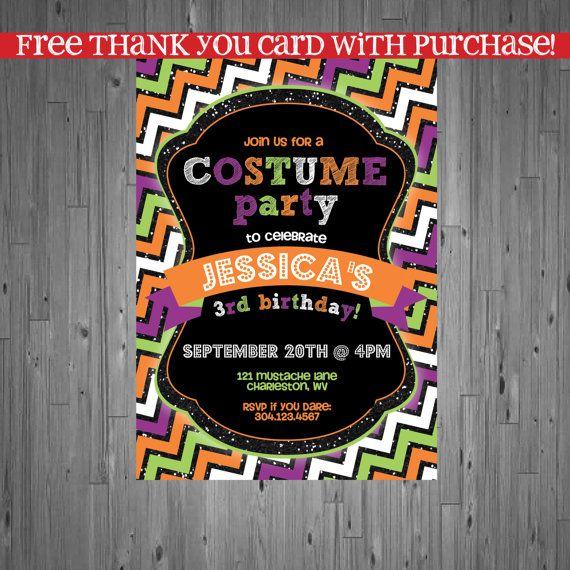 Halloween Birthday Invitation first birthday by AbbyReeseDesign
