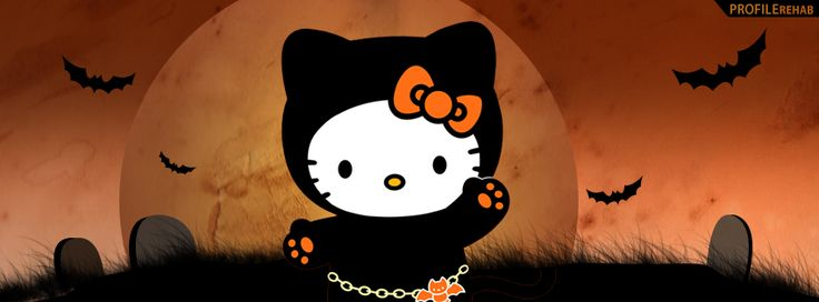 Halloween Pictures for Facebook | Halloween Hello Kitty Facebook Cover Preview