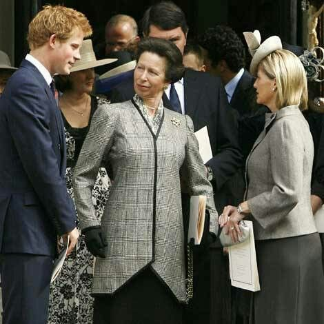 Prince Harry, Princess Anne, Sir Timothy Laurence, Sophie Countess of Wessex.