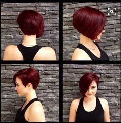 cute short asymmetrical cut