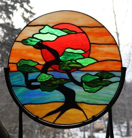 bonsai stained glass | Artists in Stained Glass