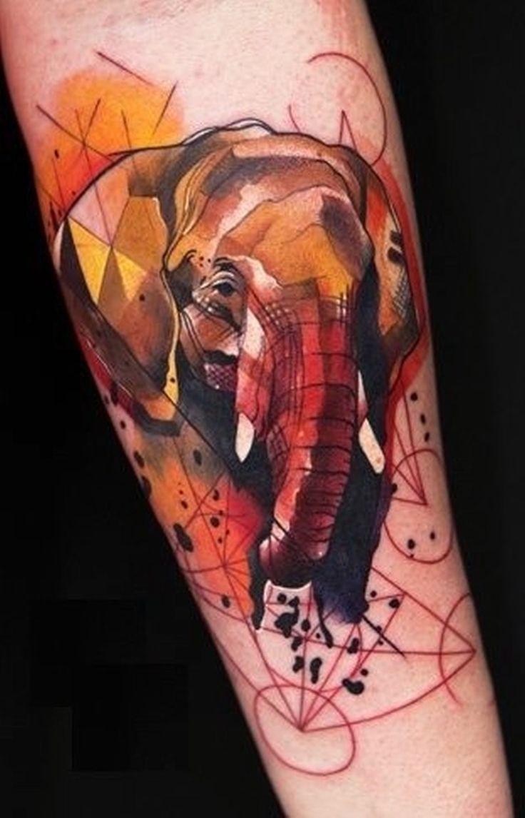 51 Exceptional Elephant Tattoo Designs Amp Ideas Tattooblend - Watercolor elephan tattoo like energy line work