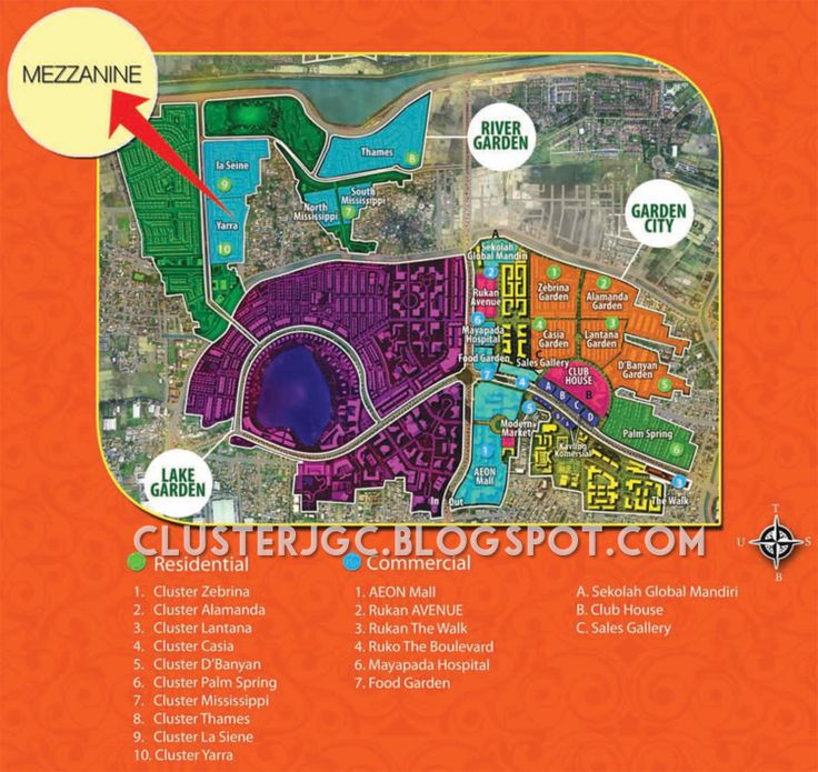 Peta Lokasi rumah Yarra Tipe Mezzanine Jakarta Garden City #clusteryarra #clusterjgc
