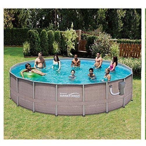 NEW Outdoor Swimming Pool 18 Feet Complete Pool Set w/ Pump Ladder Cover Cloth + #Sw