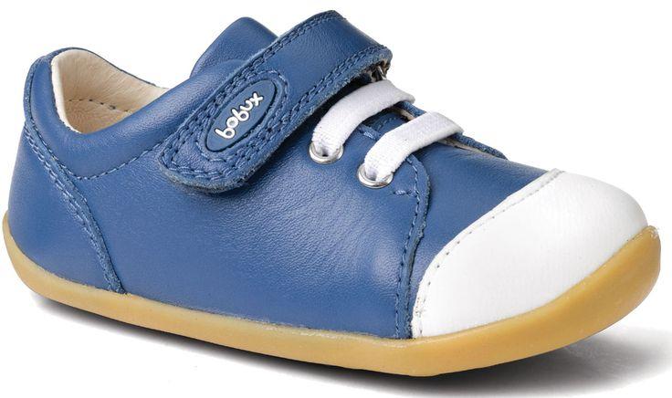 Bobux Step-Up Ice Cap Casual Trainer - Cobalt/White With water repellent Splashtex™ leather toe-cap