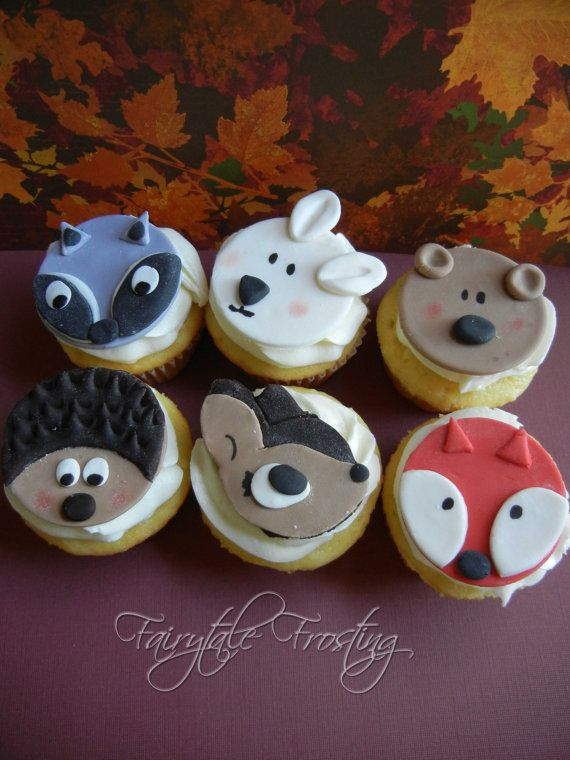 Forest Friends Cupcake Toppers by fairytalefrosting on Etsy, $12.95