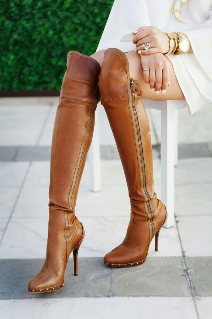 Leadher laarzen