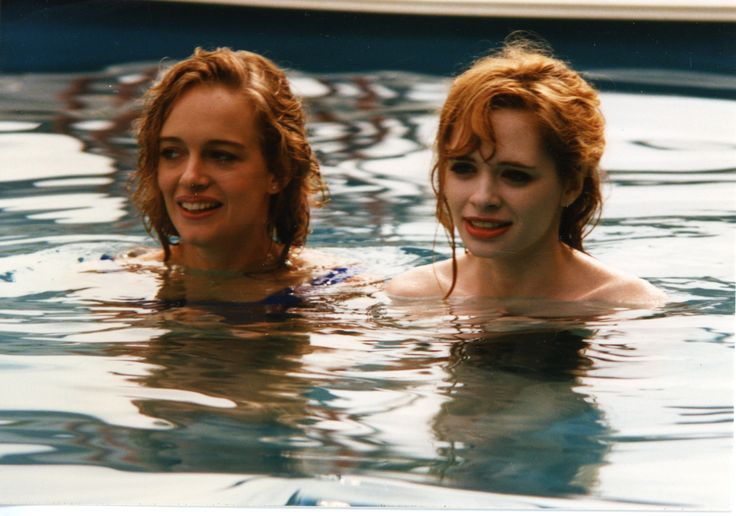 "Julia Mueller (as Julia McNeal) and Adrienne Shelly in ""The Unbelievable Truth"""