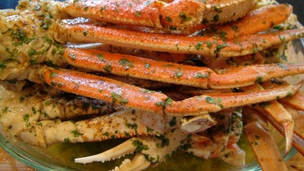 Lick Your Fingers, Beer, Butter & Garlic Crab Legs by She's Got Flavor