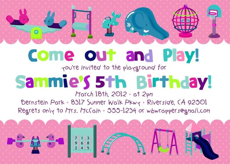 Best Birthday Party Invitation Wording Ideas On Pinterest - 5th birthday girl invitation wording