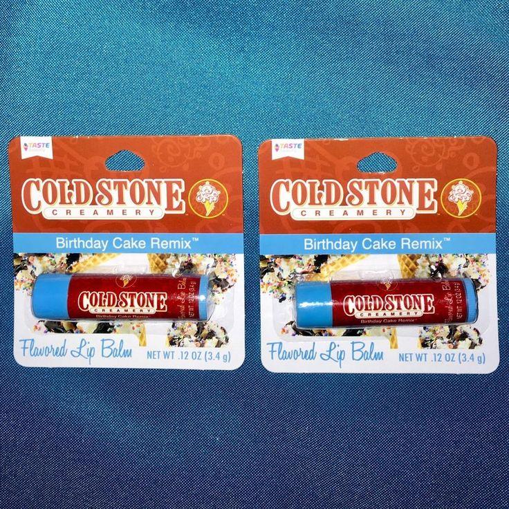 2 New Cold Stone Creamery Birthday Cake Remix Flavored Lip Balms.  | eBay