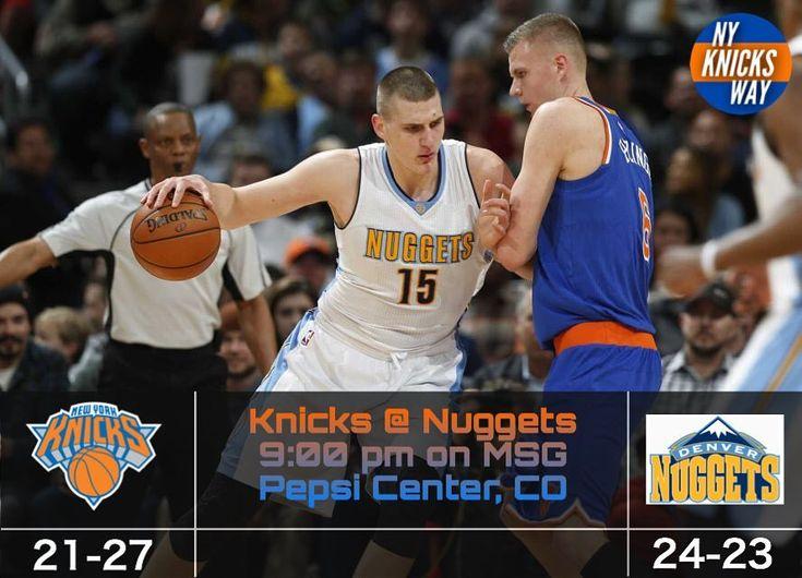 (My caption didnt post thanks instagram) Today the Knicks take on the Denver Nuggets. Game is at 9 pm on MSG - - FOLLOW @nyknicksway FOR MORE - #Knicks #Knicksway #KP #Porzingis #Hardaway #Knickstape #Lee #Jack #Starting5 #Kanter #Doug #McDermott #McBuckets #Beasley #Hernangomez #FrenchPrince #ntilikina #Sessions #Kuz #Thomas #ESPN #TNT #NBA #Sixers #Raptors #Celtics #Nets #Hornaceck #Burke #tkwpregame  @makeknicksgreatagain @knicks.clique @tnyk_discussion @knicks_everything @knicks.hub…