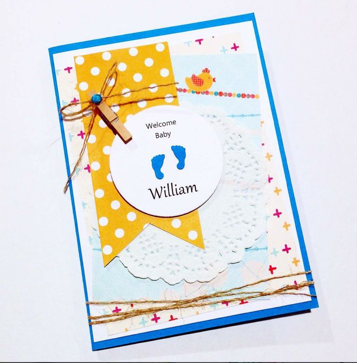 Baby boy card with cute little feet!! Made by Pammypumpkin!