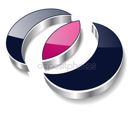 Descargar - Logotipo 3d moderno — Ilustración de Stock #2894664