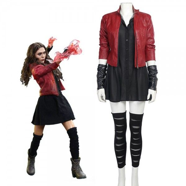 Avengers 2 Scarlet Witch Wanda Cosplay Costume Halloween Dress Women Outfit Cool
