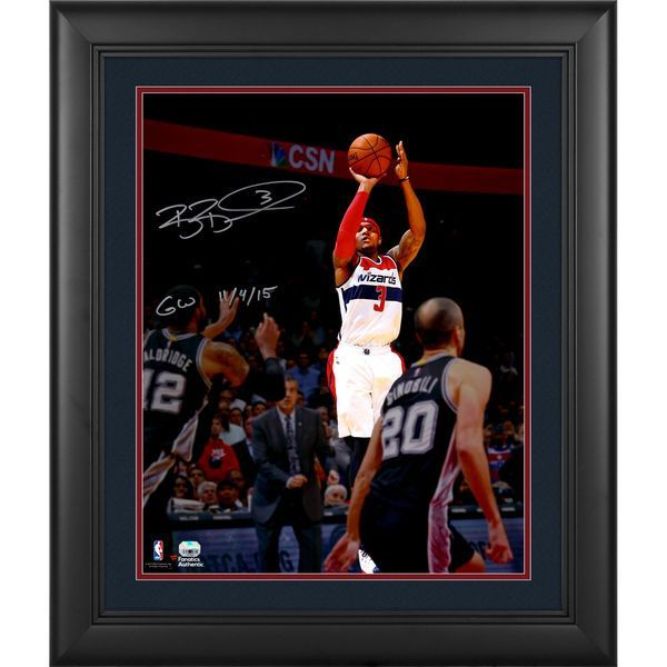 "Bradley Beal Washington Wizards Fanatics Authentic Framed Autographed 16"" x 20"" Shooting Photograph with GW 11/4/15 Inscription - $149.99"