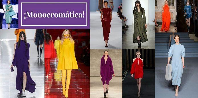 Esta temporada otoño-invierno 2015/2016 la moda monocromática se apodera con fuerza de looks poderosos e impresionistas.