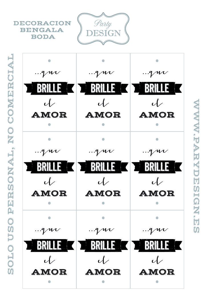 Etiquetas bengala boda gratis wedding free