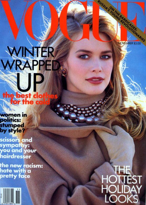 Vogue US November 1991 - Claudia Schiffer