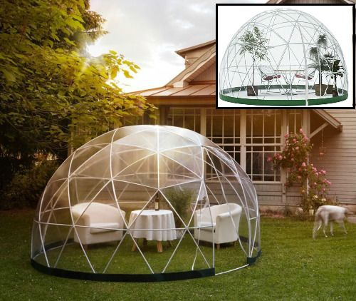 Garden Igloo Dome Outdoor Gazebo Tent Summer House Patio Office Room PVC Cover  #GardenIgloo