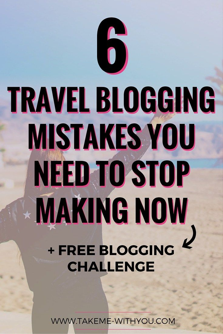 6 travel blogging mistakes you need to stop making ASAP>> Pin for actionable tips + a free blogging challenge!