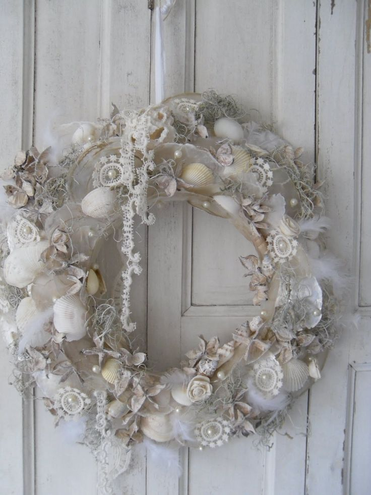 Shells,pearls and lace These are a few of my favorite things! I must make one of these!