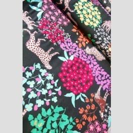Bond Woodland Animals Black - Echino Fall 2011 fabric by Etsuko Furuya