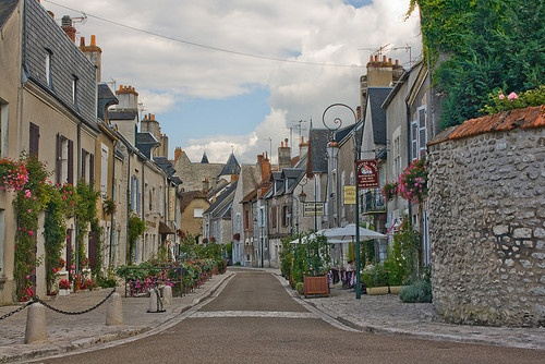 Beaugency in Loire valley france