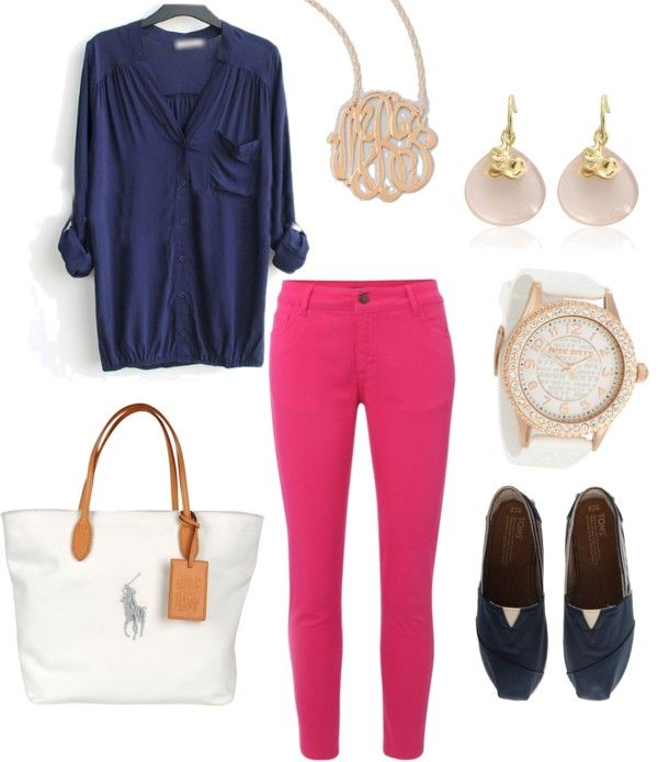 Colored jeans. Summer outfits. Casual clothes. Watches. Fashion for women over 40.