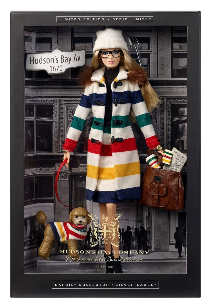 New Collector The Hudson's Bay Barbie doll 2016