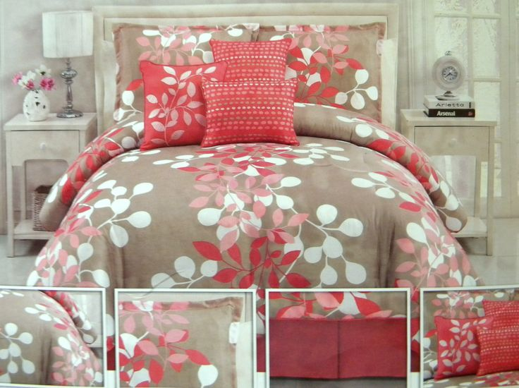 Coral And Taupe Bedding Gorgeous Bedroom Update