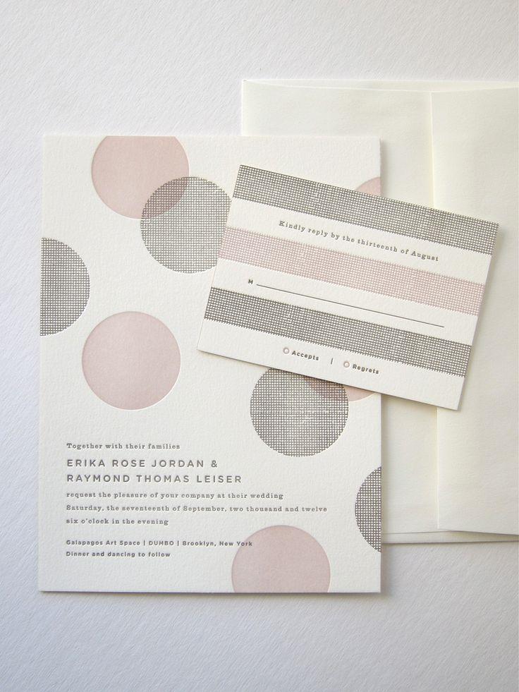 via Indigo Bunting: Photos, Ideas, Polka Dots, Weddings, Letter Pressed, Wedding Invitations, Graphics Design, Wedding Stationery, Card