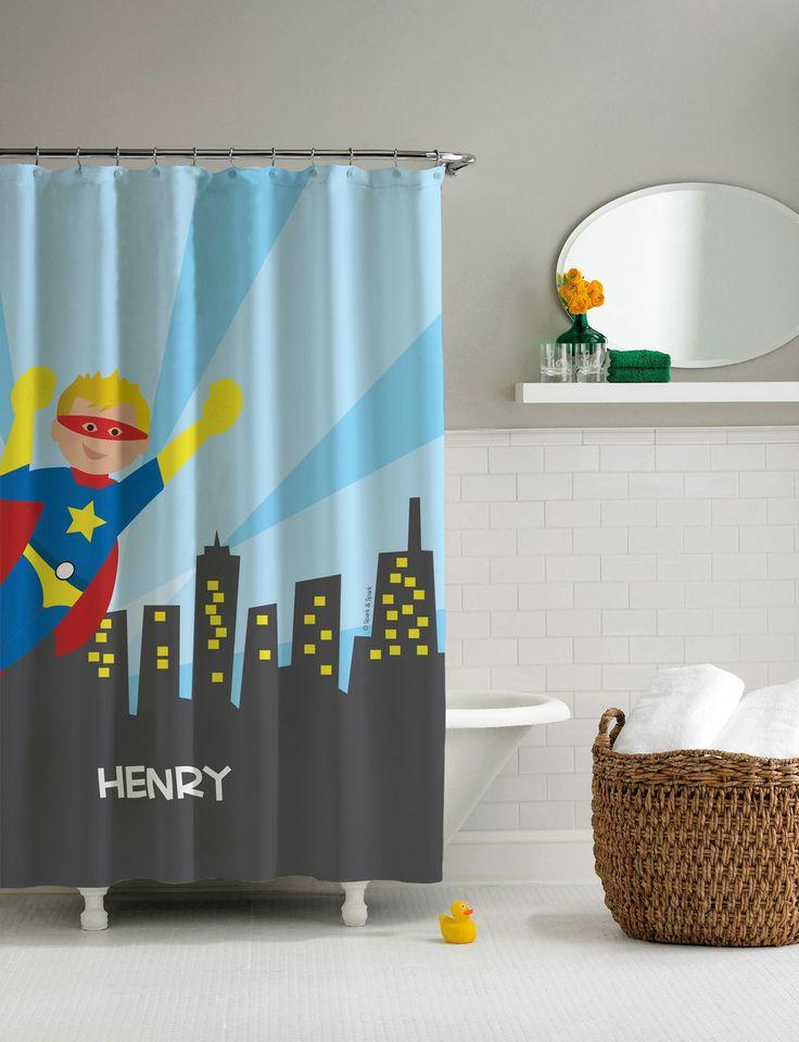 Spark And Spark   A Cool Superhero Shower Curtain, $69.99 (http://
