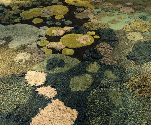 alexandra kehayoglou mossy rag rug argentinian pastureland, textile art, textile design, design squish blog