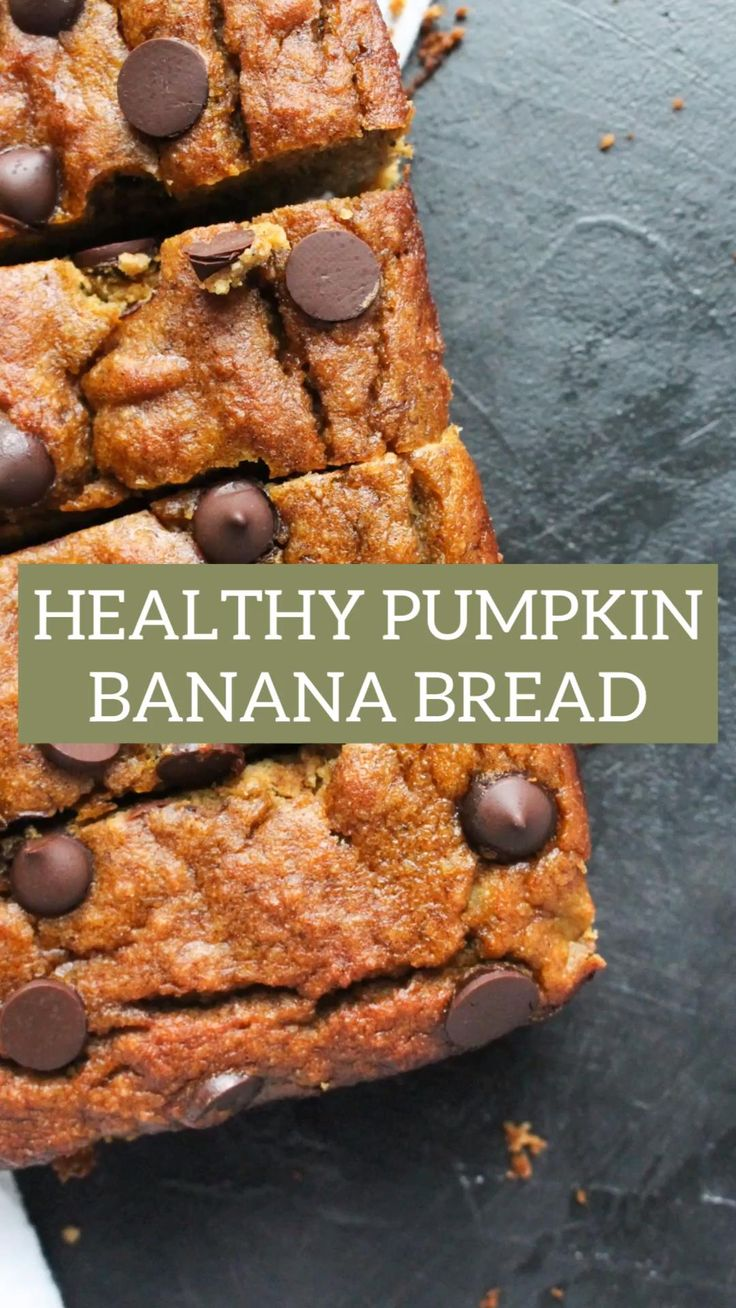 Healthy Pumpkin Bread, Pumpkin Banana Bread, Best Banana Bread, Healthy Banana Bread, Gluten Free Pumpkin, Pumpkin Puree, Healthy Pumpkin Recipes, Healthy Breads, Banana Bread Almond Flour