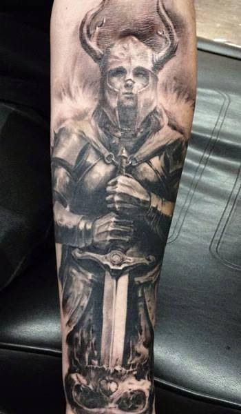 Tattoo of Viking warrior. Badass.Tattoo Ideas Viking Warrior Vikings ...