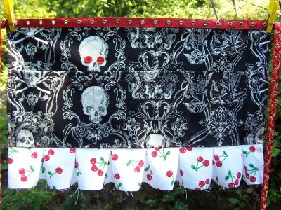 Cool Waitress Apron With Cherry Trim