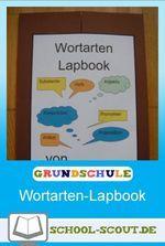 Lapbook zum Thema Wortarten für die Grundschule - kreative Umsetzung & sofort einsetzbar!