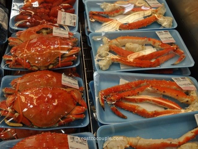 Cooked Dungeness Crab and Red King Crab Legs and Claws Costco