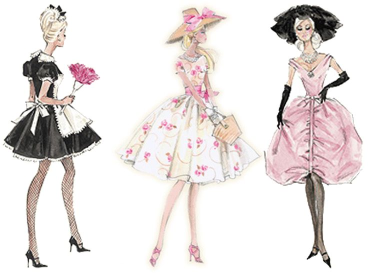 I really like Robert Best's illustrations. He illustrates Barbie dolls. He uses a lot of feminine colors and lady-like silhouettes.